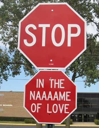 Emotionally Intelligent stop sign